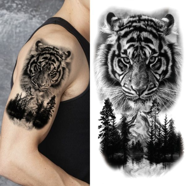 Tatouage Tigre Bête de Forêt