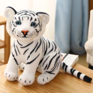 Peluche Tigre Bébé Fauve Blanc