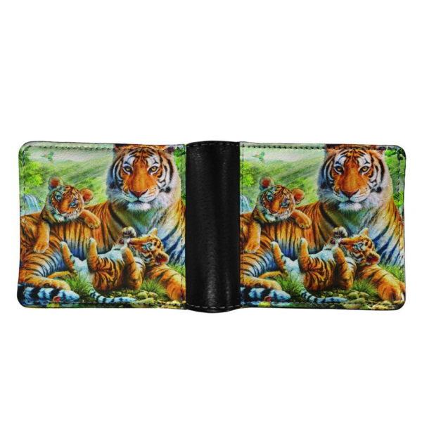 portefeuille tigre Fauve Famille