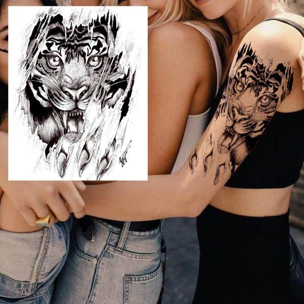 tatouage tigre Déchiqueteur