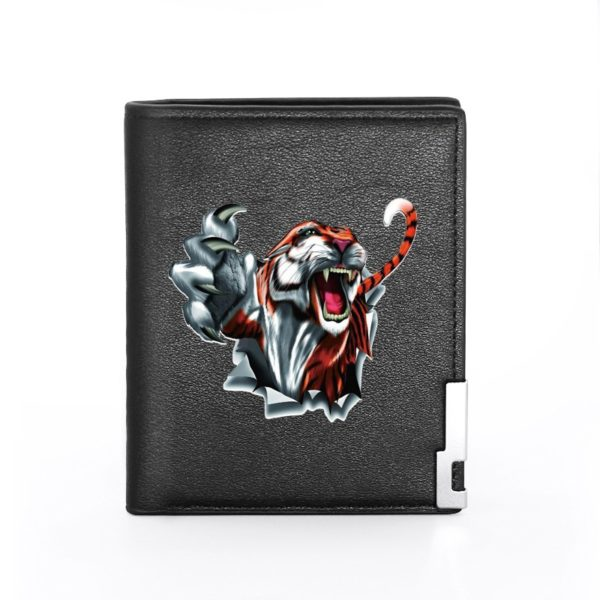 portefeuille tigre Furie Destructrice noir