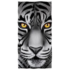 serviette tigre Yeux Jaunes
