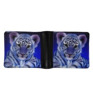 portefeuille tigre bébé blanc
