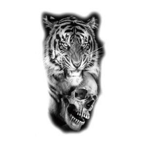 tatouage tigre Feat Head Dead