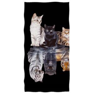 serviette tigre Reflet de Fauve