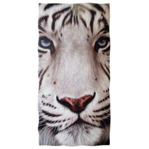 serviette tigre Blanc Yeux Bleus