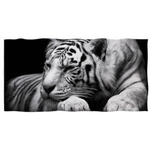 serviette tigre Endormi