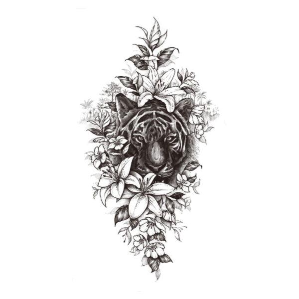 tatouage tigre Caché