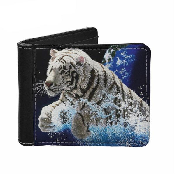 portefeuille tigre Blanc Mer