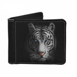 portefeuille tigre Blanc Yeux Bleus
