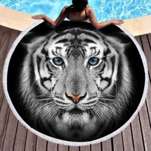 serviette tigre Noir et Blanc