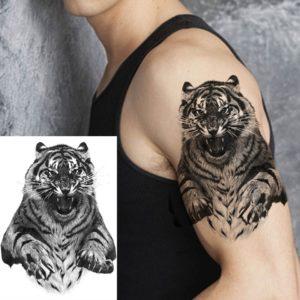 tatouage tigre Furieux
