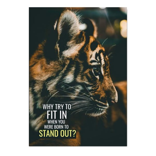 poster tigre Stand Out