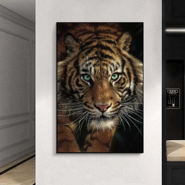 poster tigre Yeux Vert