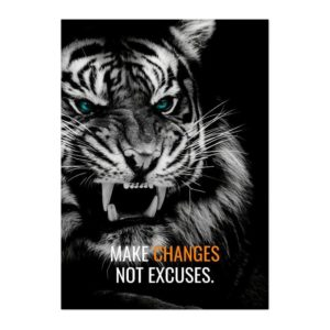 poster tigre Not Excuses