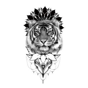 tatouage tigre Fresque