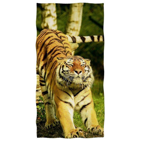 serviette tigre Étirement
