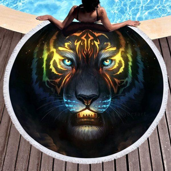 serviette tigre Fauve Astral