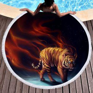 Serviette Tigre Possédé