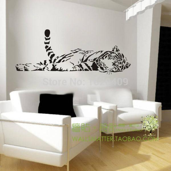 stickers tigre Fauve Endormi