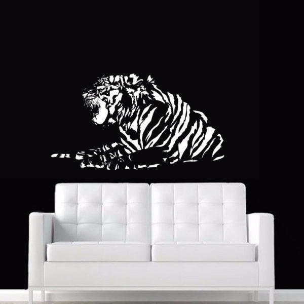 stickers tigre Fauve rugit