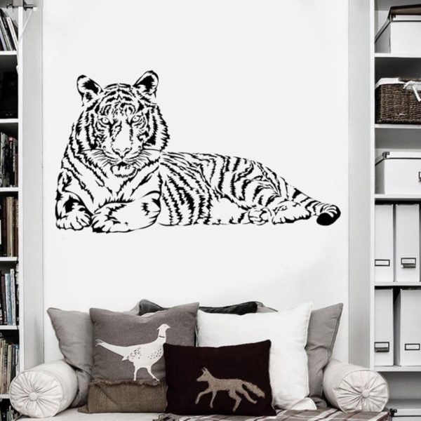stickers tigre Fauve Allongé