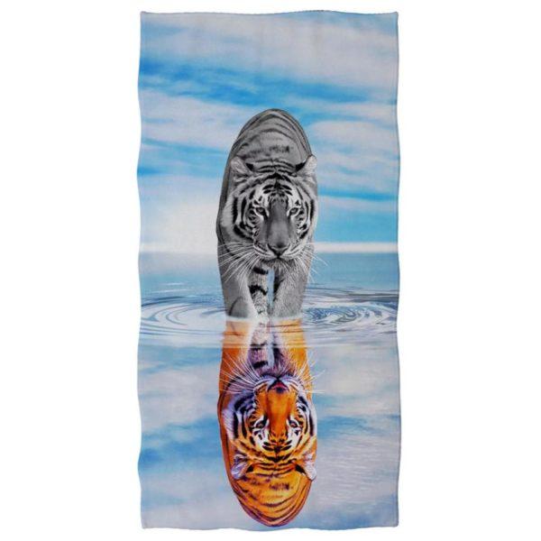 serviette tigre Reflet Céleste