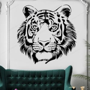 stickers tigre Portrait Sauvage