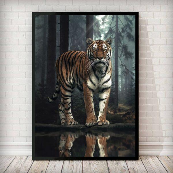poster tigre Forêt de Nuit