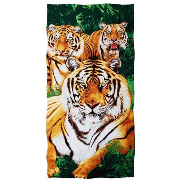 serviette tigre Triple Fauves