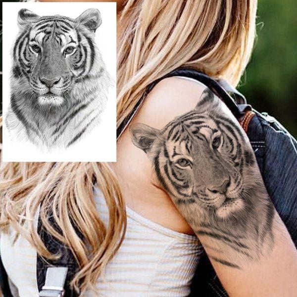 tatouage tigre Tête