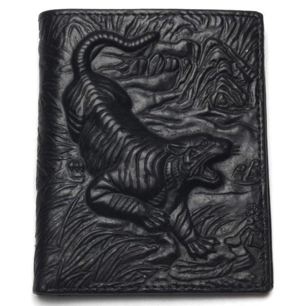 portefeuille tigre Chinois noir
