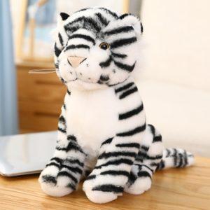 Peluche Tigre Blanc Gros Félin