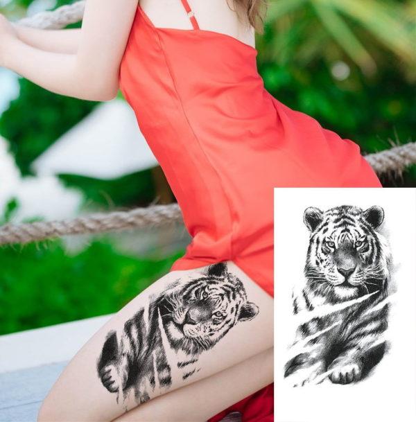 tatouage tigre Fauve
