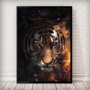 poster tigre Feu Ardent