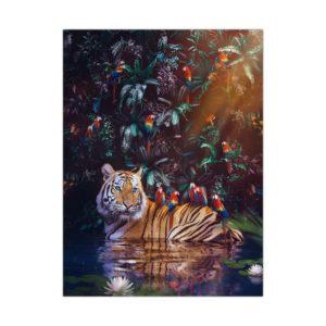 poster tigre Perroquet