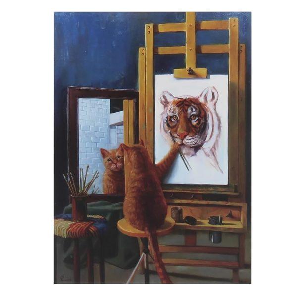 Puzzle Tigre Peinture