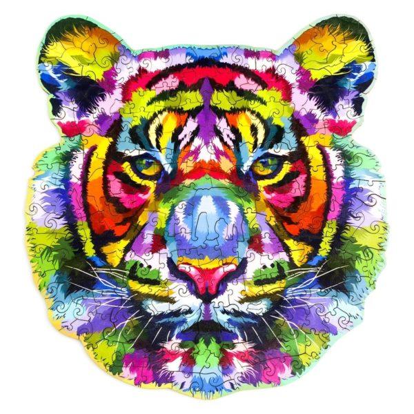Puzzle Tigre Arc En Ciel