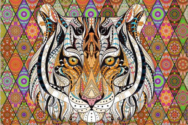 Puzzle Tigre Psychédélique