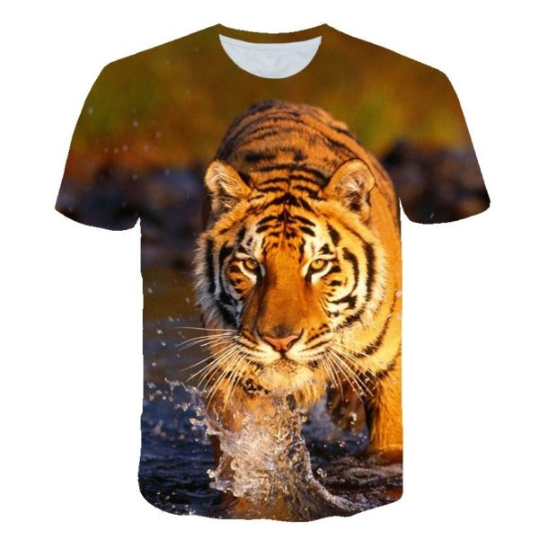 T-Shirt Tigre traversée du Félin