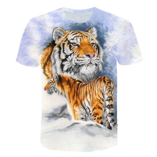 t-shirt tigre Prédateur apaisé