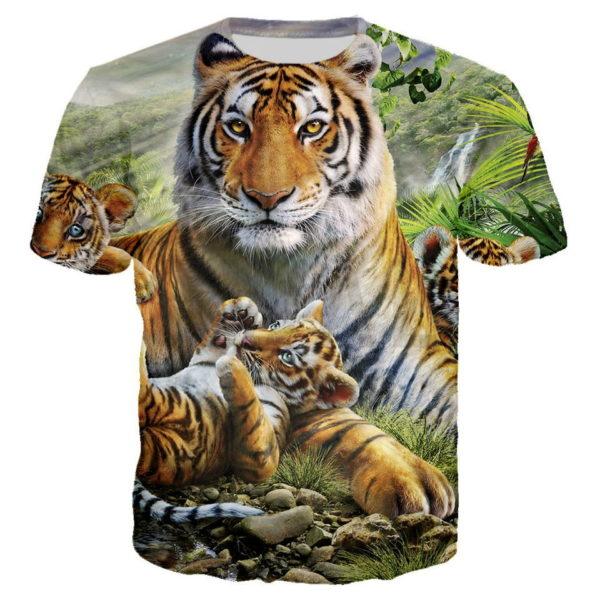 T-Shirt Tigre Selfie Famille