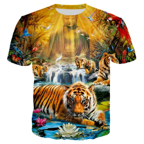 T-Shirt Tigre Fauve en Inde
