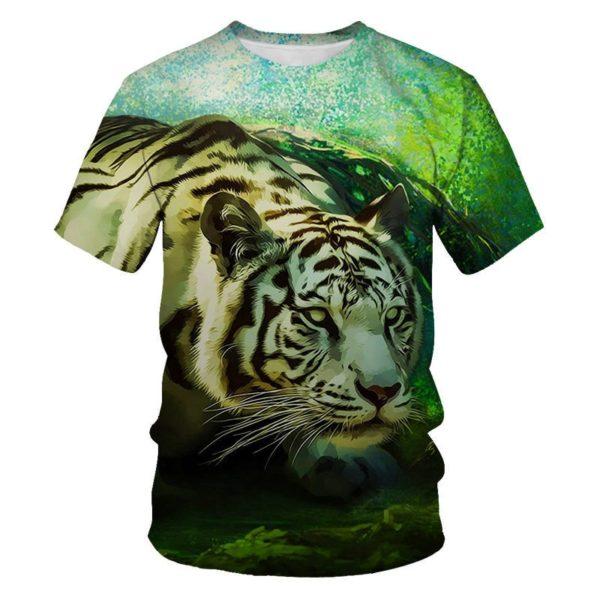 T-Shirt Tigre Fauve Somnolant