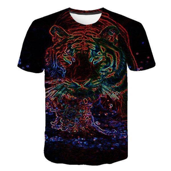 t-shirt tigre fauve prisme