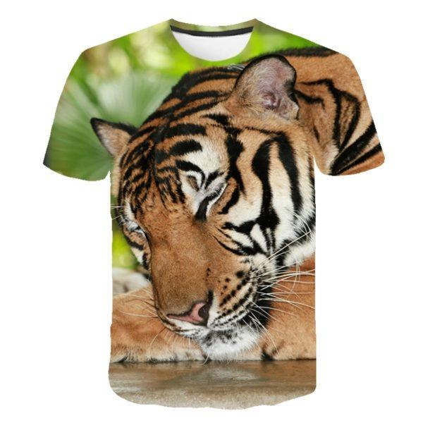 T-Shirt Tigre Fauve Endormit