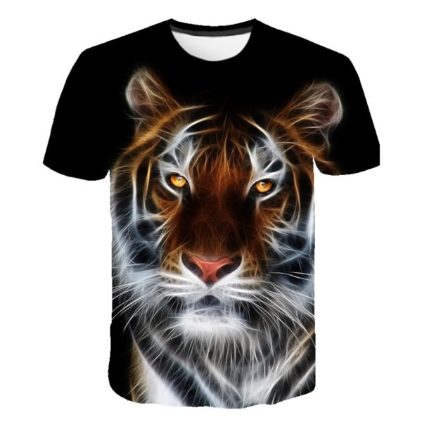 t-shirt tigre luminescent obscure