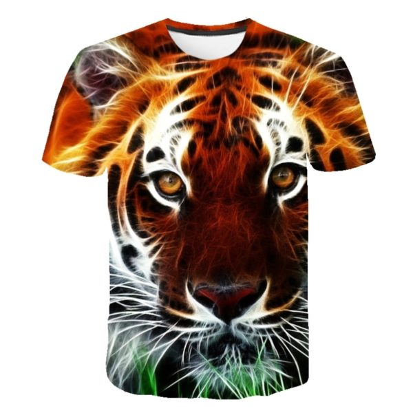 T-Shirt Tigre Luminescent Curieux