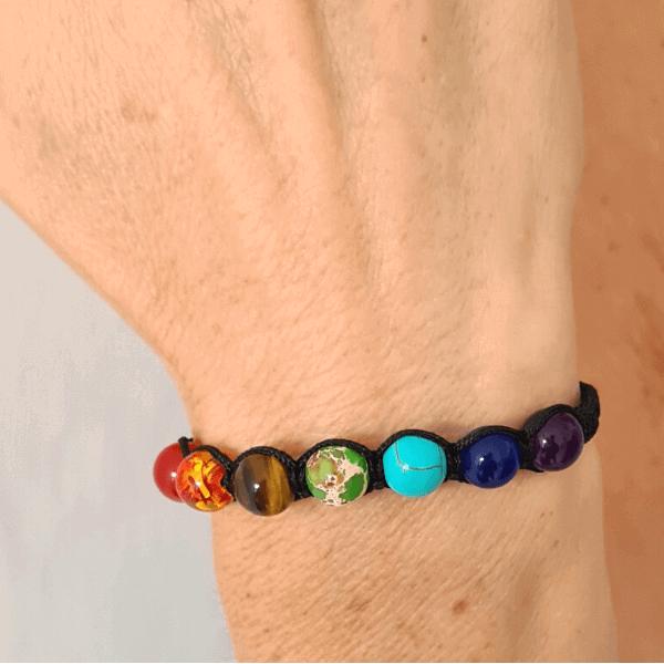 bracelet shakras shamballa