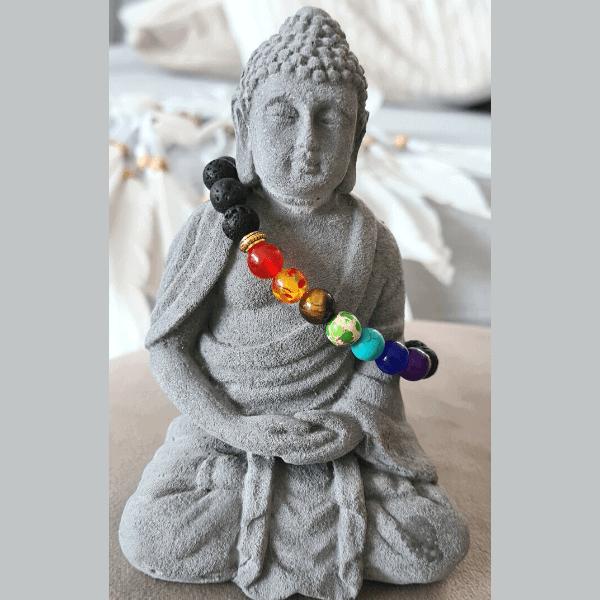 bracelet homme pierre de lave 7 chakras